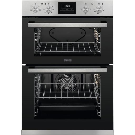 Zanussi ZOA35660XK Built In Electric Double Oven - Stainless Steel - A Energy Rated