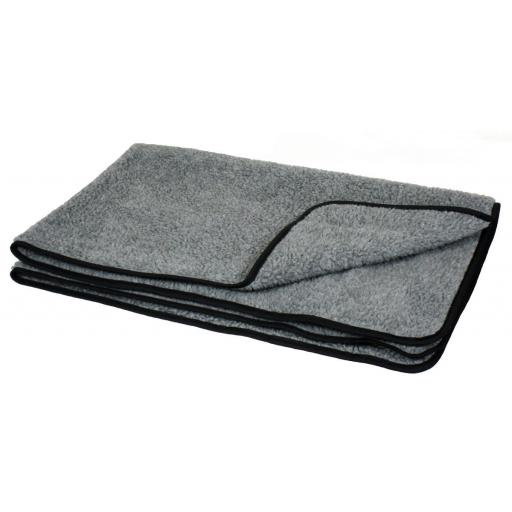 Double Thickness Sherpa Fleece Blanket, Large, 150 x 100 x 1 cm, Grey