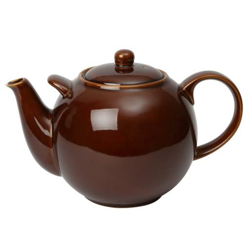 London Pottery Globe 10 Cup Teapot Brown