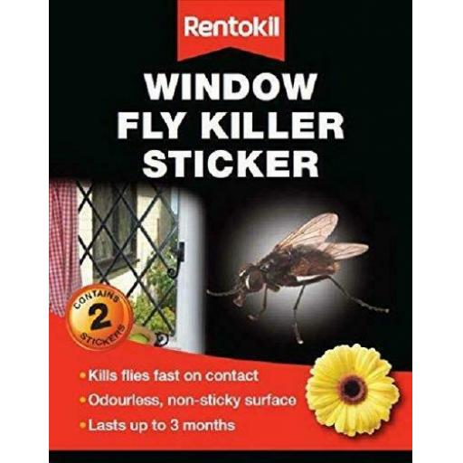 Rentkil Fw100 Window Fly Killer Sticker X2 P