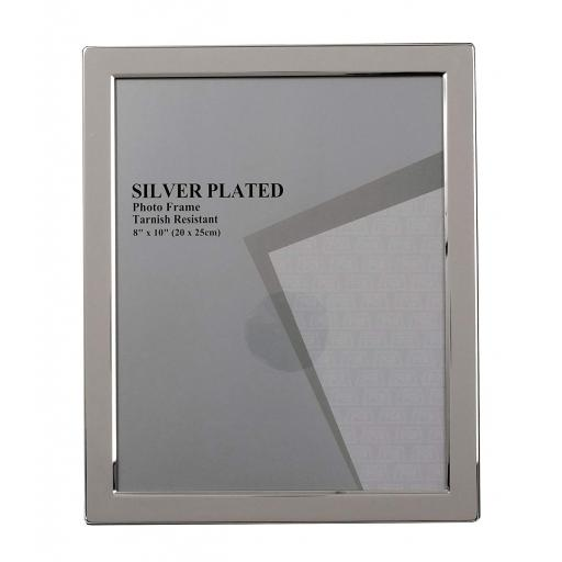 "Silver Narrow Edge 8"" x 10"" Photo Frame"
