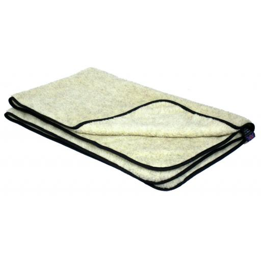 P & L Oatmeal Double Thickness Sherpa Fleece Pet Blanket Large