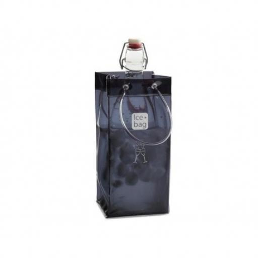 Ice Bag Wine Bottle Cooler Black