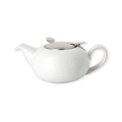 London Pottery Pebble Small Teapot Speckled White, 2 Cup (500 ml)
