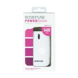 Status Powerbank - 5400 MAH - 2 USB port - LED Torch