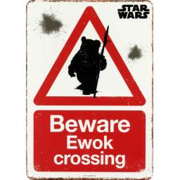 Star Wars Sign Ewok Crossing