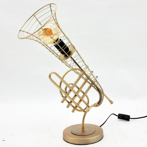 Metal Trumpet Table Lamp 59cm