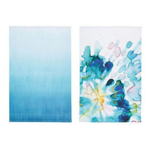 KitchenCraft 'Abstract Flower' 100% Cotton Printed Floral Tea Towels