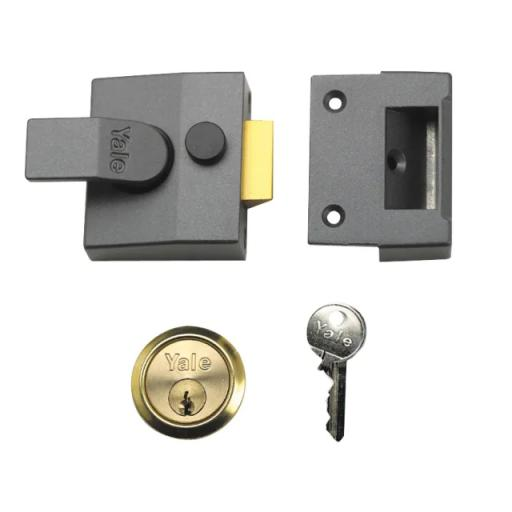 P85 Deadlocking Nightlatch 40mm Backset Chrome Finish Visi