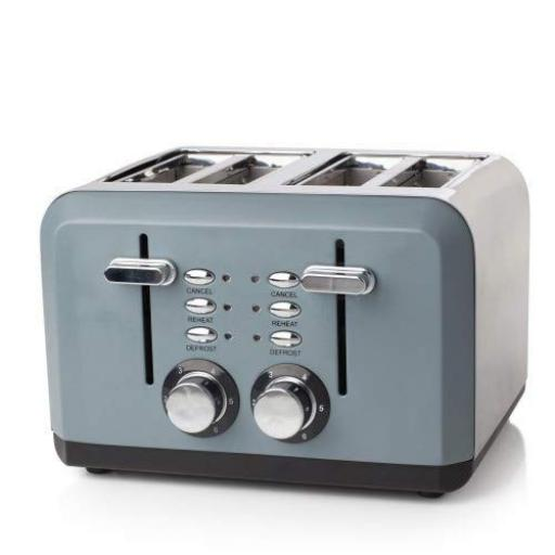 Haden Perth 4 Slice Toaster Slate Grey