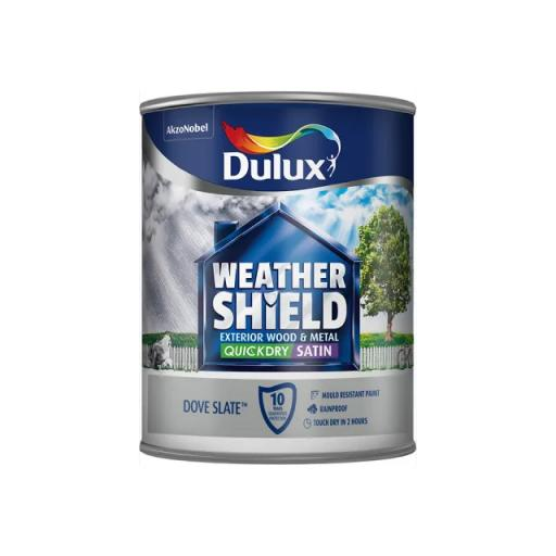 Dulux Weathershield Exterior Satin Dove Slate 750ml
