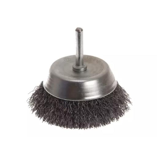 Wire Cup Brush 75mm x 6mm Shank 0.30mm