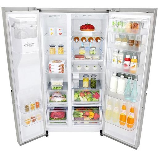 LG ELECTRONICS GSX961NSVZ InstaView Door-in-Door™ American Style Fridge Freezer - PREMIUM STEEL - A++ Energy Rated