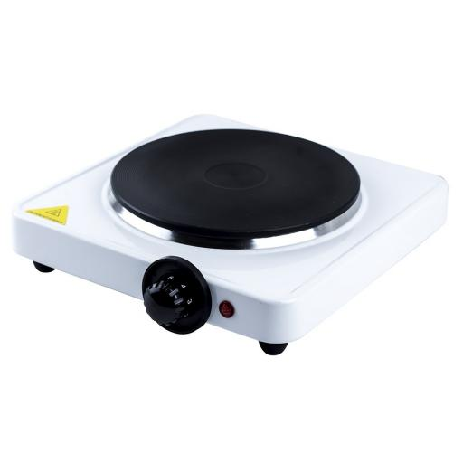 Status Single Stainless Steel Hot Plate - White