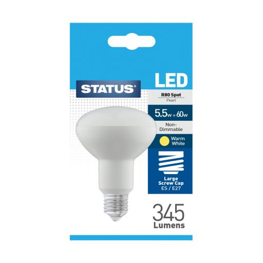 Status 5.5watt R80 ES /E27 Led Spotlight Bulb