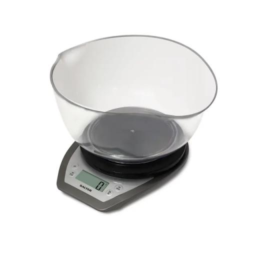 Electric Kitchen Scales + Bowl Silver