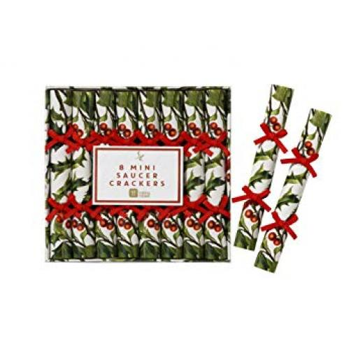 Talking Tables Botanical Christmas Saucer Crackers