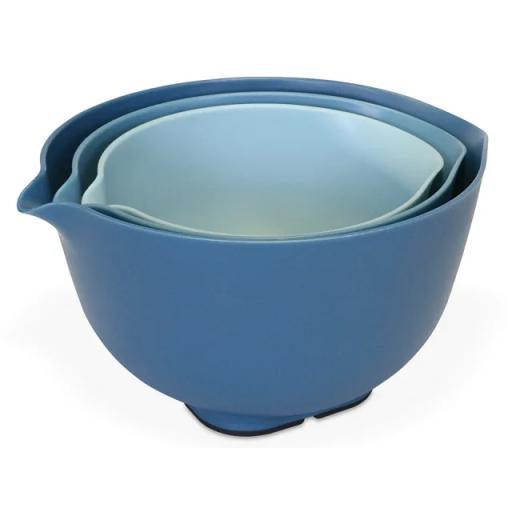 Mixing Bowl Set With Lids Blue