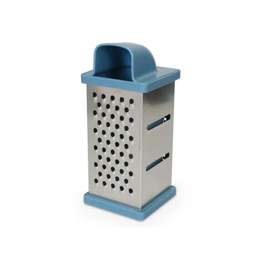 4 Sided Grater With Drawer Blue