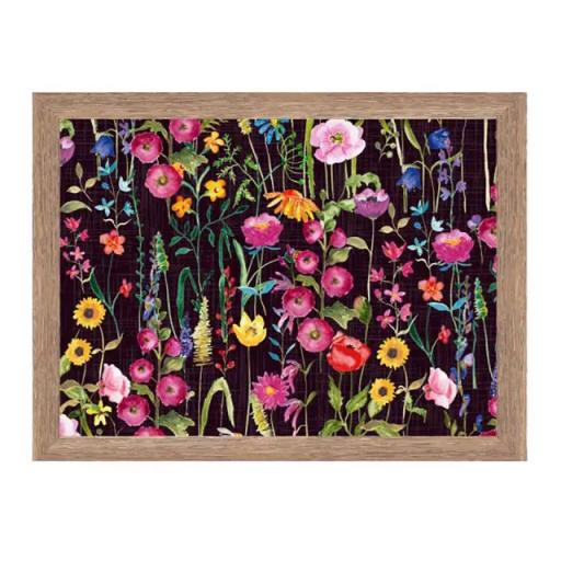 Home Living Black Meadow Print Trays