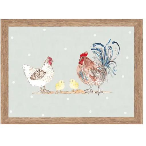 Home Living Hen & Chick Print Trays
