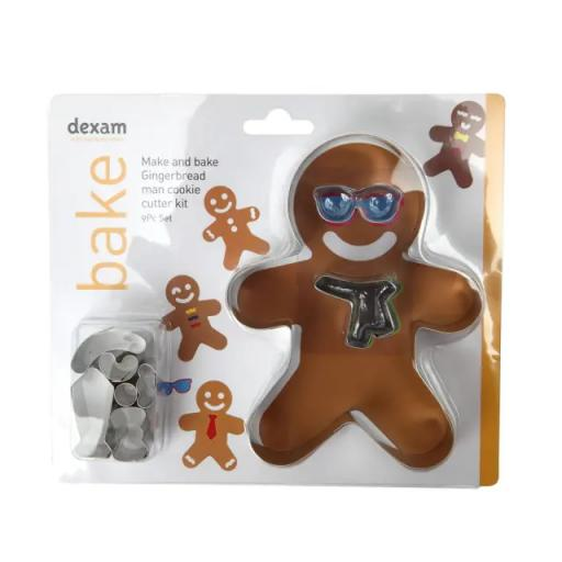 Make + Bake Ginger Bread Man Kit 9 Piece