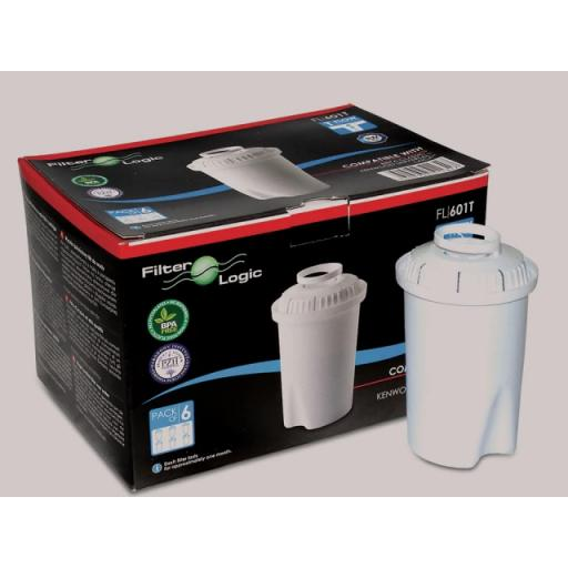 Water Filter Refill - Compatible with Brita Classic + Kenwood x 6