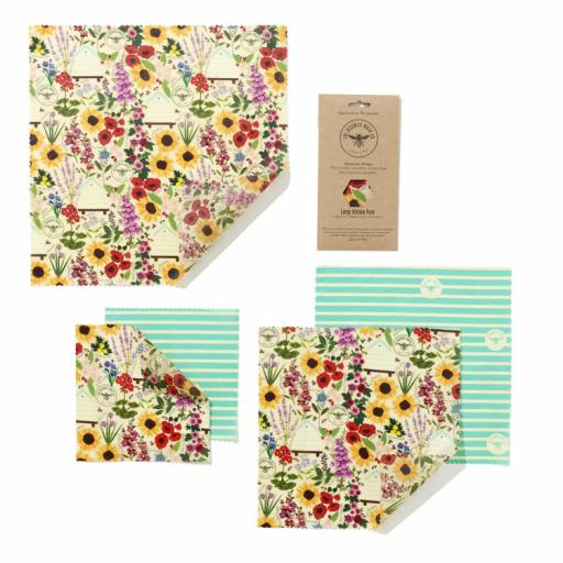 BEESWAX WRAP CO. WRAPS LARGE KITCHEN PACK