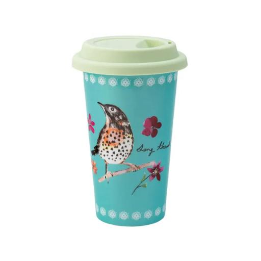 Garden Birds Travel Cup Green