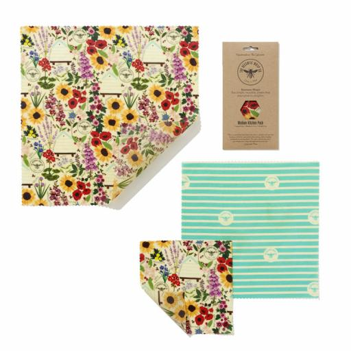 BEESWAX WRAP CO. WRAPS medium KITCHEN PACK