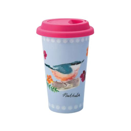 Garden Birds Travel Cup Blue
