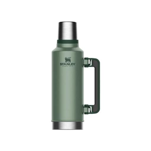 Classic Vacuum Bottle Hammered Green