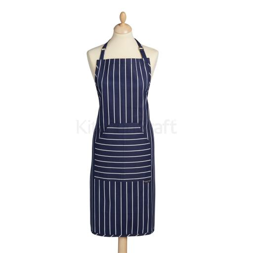 Kitchencraft Apron Cotton Butchers Stripe