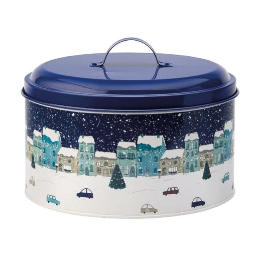 Cake Tin Winter Scene