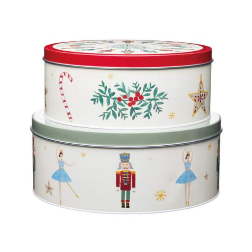 Nutcracker Cake Tin x 2