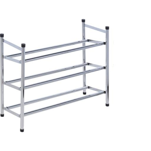 Extendable Shoe Rack 3 Tier Stainless Steel