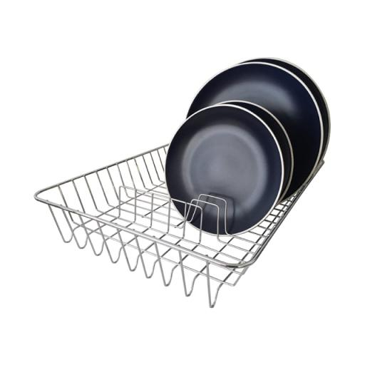 Dish Rack Chrome/White