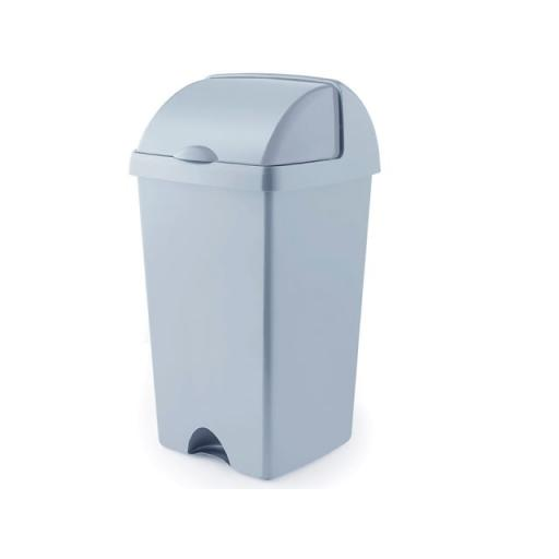 Eco Roll Top Bin Grey 50L