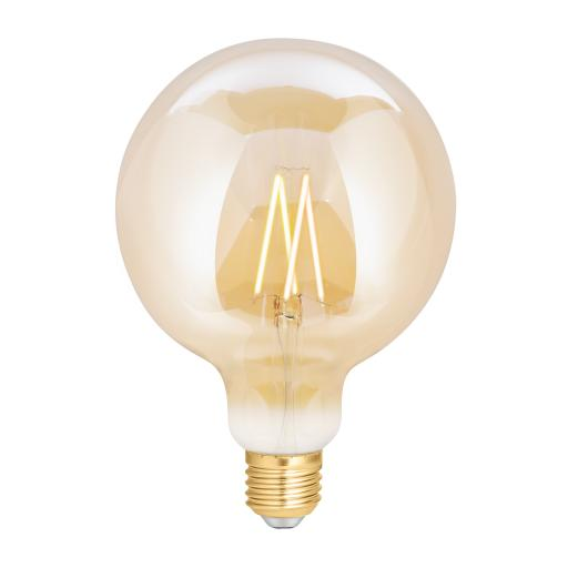 Wiz Warm White Filament WZ21081271_A - G125 Screw E27 Amber Fully Dimmable