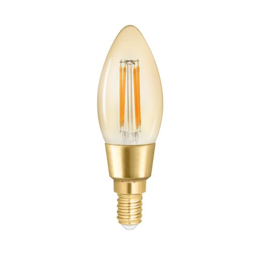 Wiz Warm White Filament WZ21443511_A- Candle E14 Amber Fully Dimmable