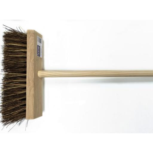 Cane/ Bassine Flat Top Broom Head + Handle