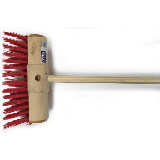 Yard Broom Head + Handle