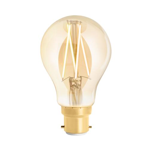 Wiz Warm White Filament WZ21826011_A - A60 Bayonet Amber Fully Dimmable
