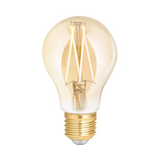 Wiz Warm White Filament WZ21026011_A- A60 Screw E27 Amber Fully Dimmable