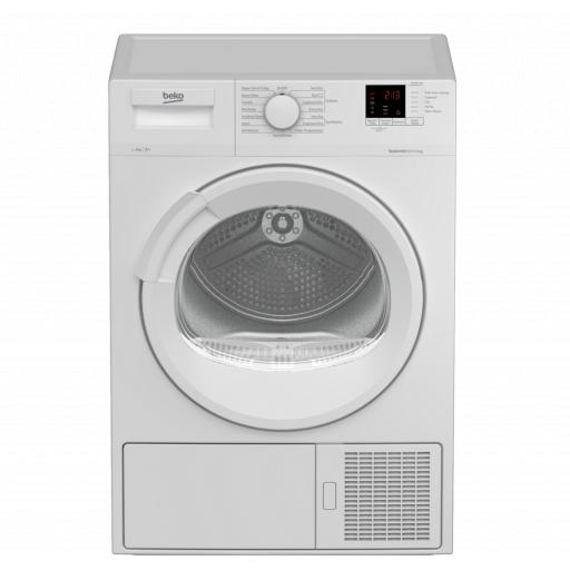 Beko DTLP81141W 8kg Heat Pump Tumble Dryer - White - A+ Energy Rated